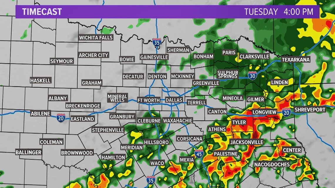 Storm Timing Tuesday Afternoon & Evening
