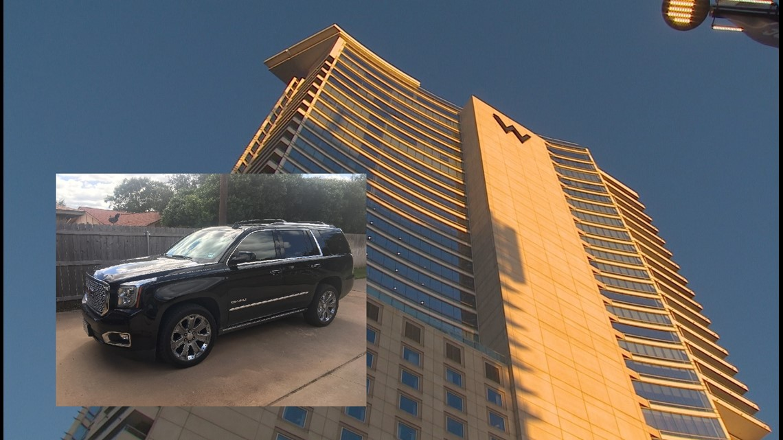 Woman's SUV stolen after leaving it with valet at W Hotel in Dallas for Miranda Lambert concert