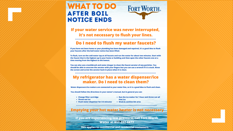 Here's what you should do after a boil water notice ends