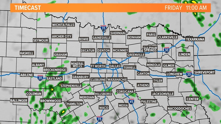 Storm Timing Friday