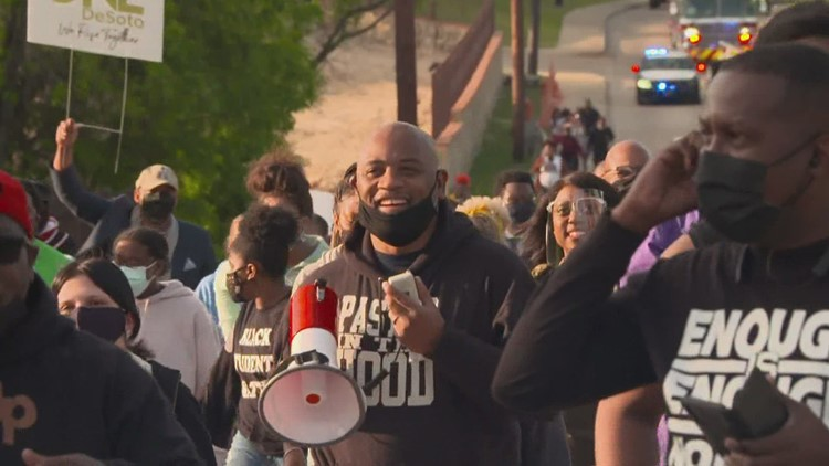 'We're human beings too': Justice march held in DeSoto on the heels of Derek Chauvin guilty verdict
