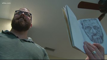 Grieving father finds comfort through art