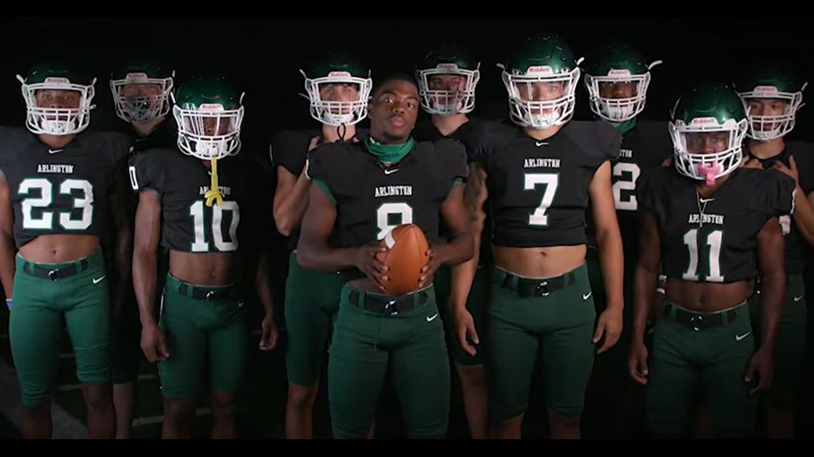 Arlington HS football team resurfaces video message in honor of Black History Month