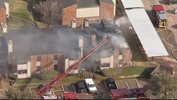 Body found inside burned unit after fire breaks out at North Richland Hills apartment complex