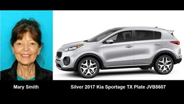 Silver Alert issued for missing woman, 70, in Trophy Club