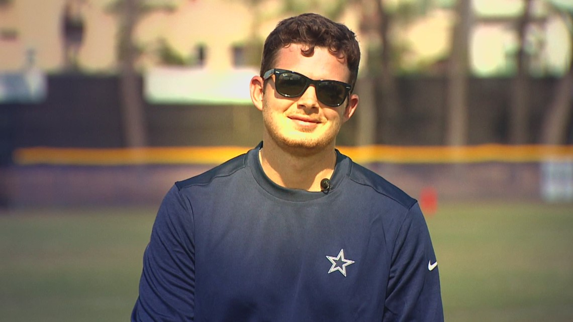 Former scholar athlete now working with Dallas Cowboys at training camp