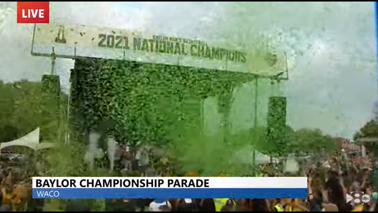 Watch: Baylor celebrates championship with parade, ceremony in Waco