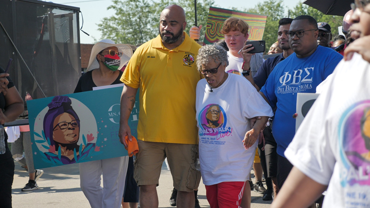 Walk for Juneteenth: Opal Lee leads marchers through Fort Worth days after federal recognition