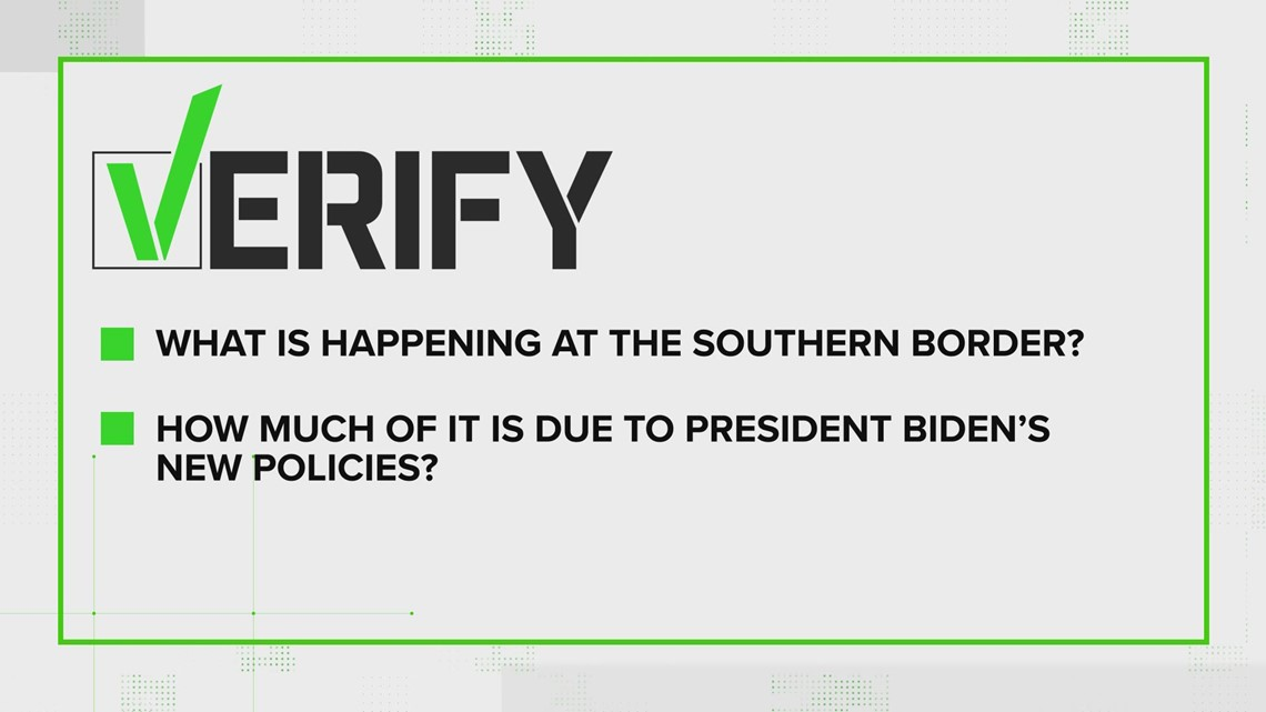 VERIFY: Yes, migrant border encounters are up during Biden's administration, but were higher during Trump era