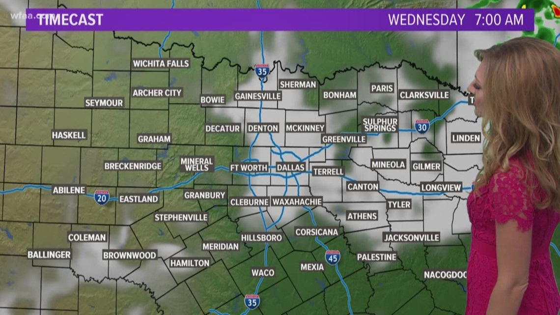 DFW Weather: Storm season continues with possible storms early Wednesday morning