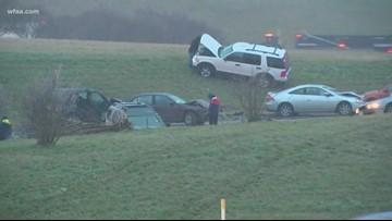 Multiple car pileup on northbound loop 12 in Grand Prairie