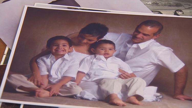 A photo of Gladys Acosta's family.