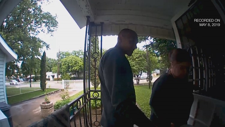 A doorbell camera caught images of suspects in elderly man's attack