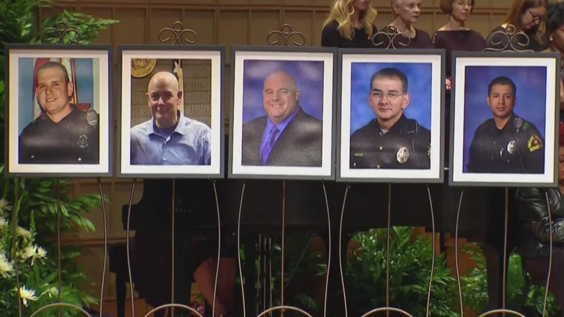 'They were all heroes that night'   Families of officers killed in July 7 ambush reflect 5 years later