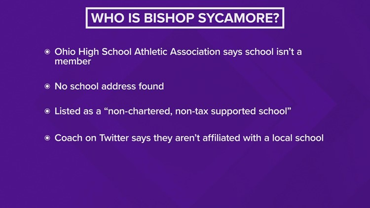 Who is Bishop Sycamore, and will Duncanville HS play them?