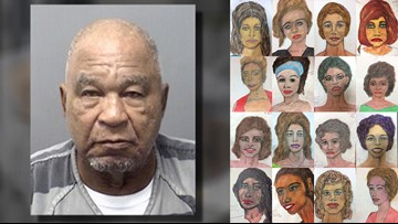 Samuel Little, maybe one of the 'most prolific serial killers in U.S. history,' draws sketches of victims from a Texas prison