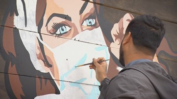 Dallas business commissions mural to honor health care workers