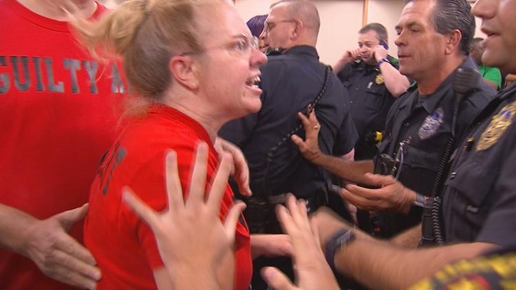 Dallas Police Board Scuffle
