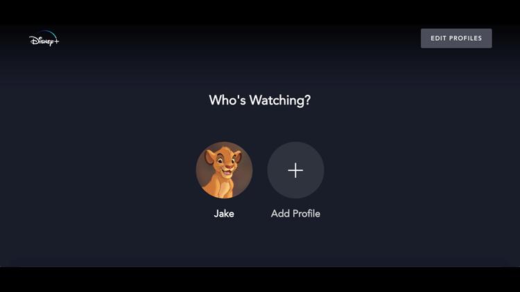Disney+ Add profile screen