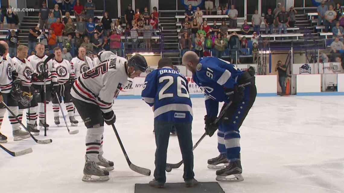 charity hockey game supports ailing officers  remembers