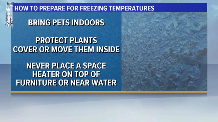 How to prepare for freezing temperatures