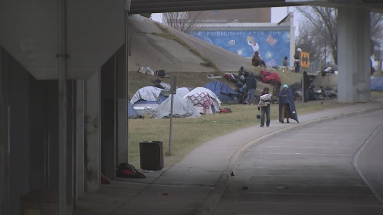 Dallas-area agencies will run out of money to care for homeless people before bitter cold ends