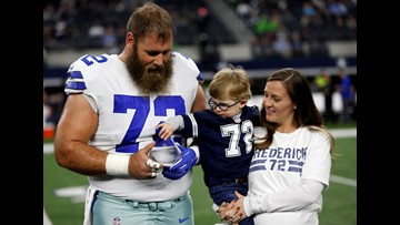 Blocking Out Hunger remains a crusade for Travis Frederick and his teammates
