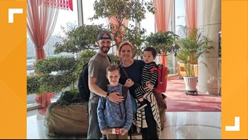 Forney family navigates adoption and trip home inside China as the country battles new coronavirus