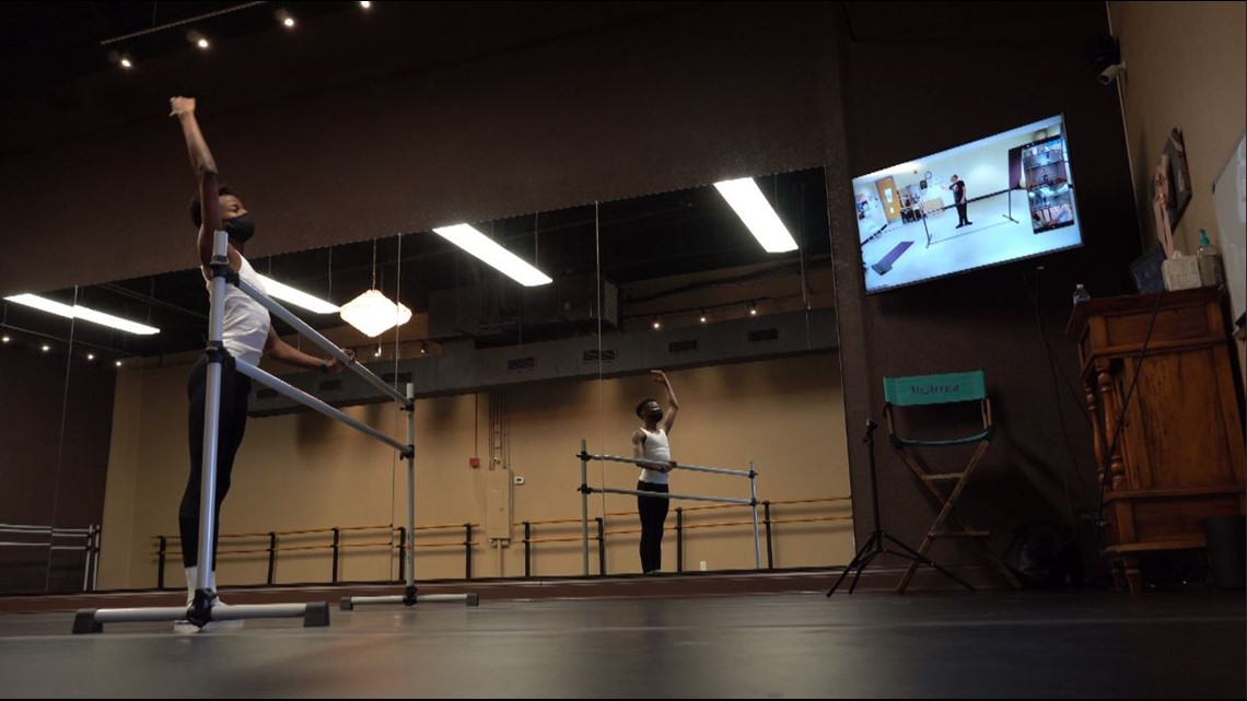 North Texas ballet dancer practices unconventionally during COVID-19 pandemic