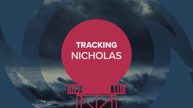 Hurricane Nicholas: 10 p.m. tracking forecast update