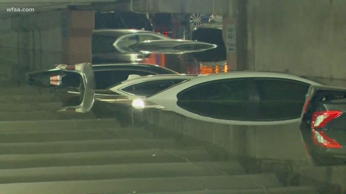 parking garage flooded at dallas love field