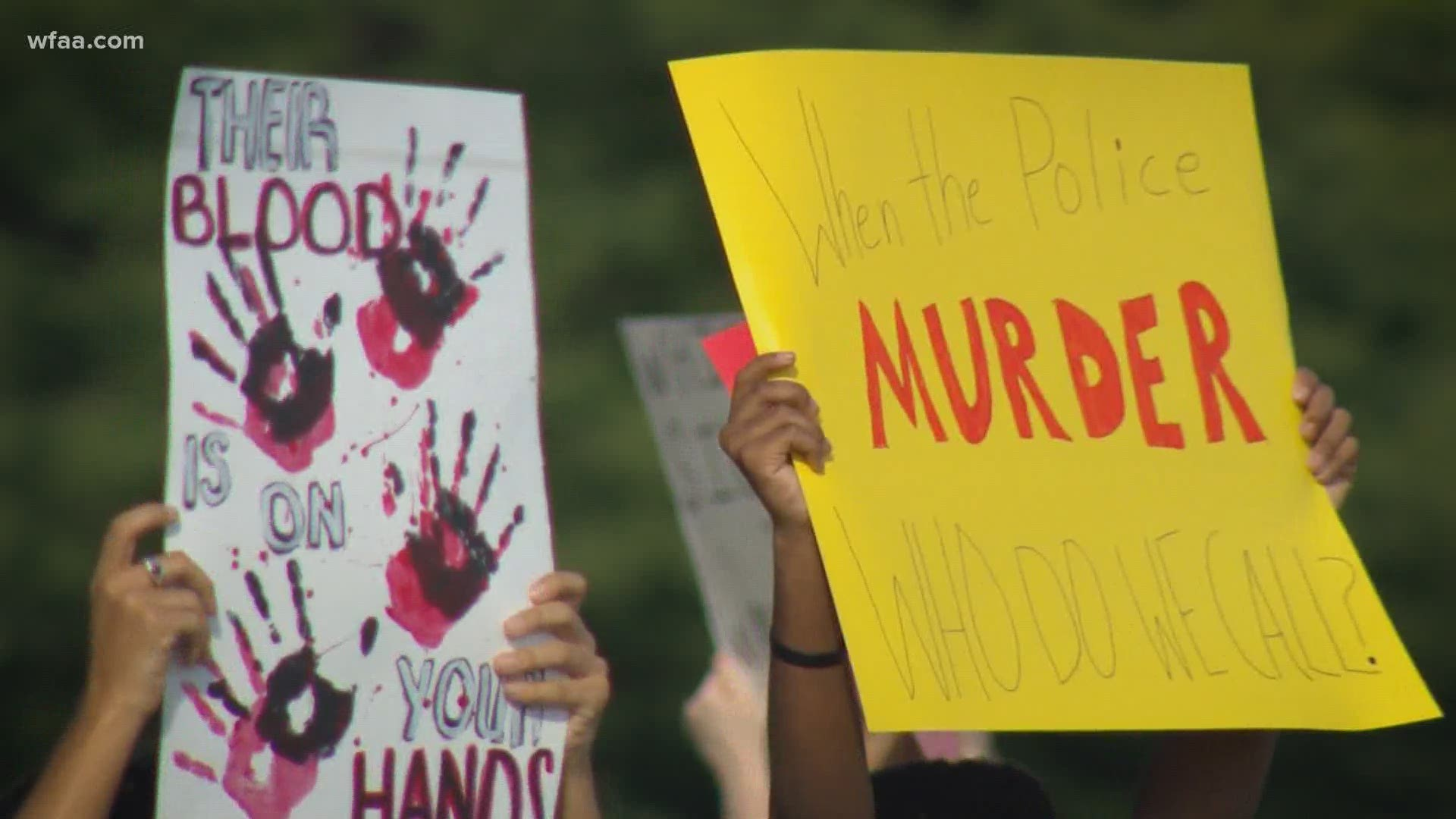 More Than 200 Teens Gather For Youth Led Protest In Mckinney Wfaa Com