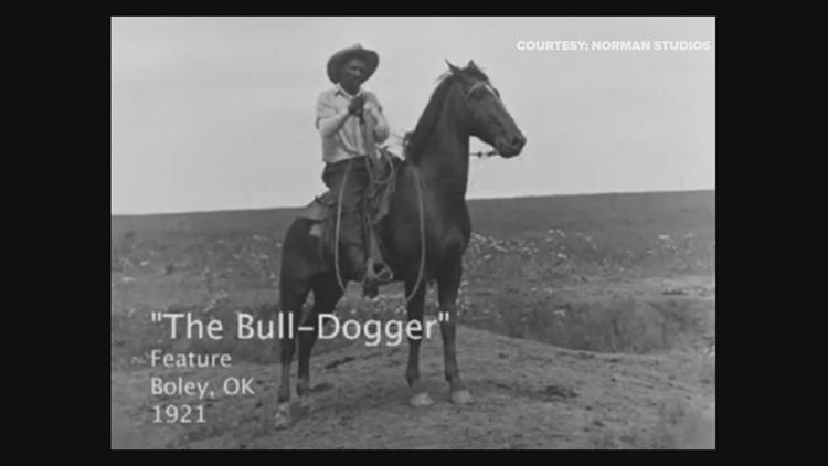 Bill Pickett stars in the 1921 film The Bull Dogger