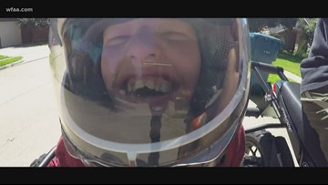Family gets creative to share the thrill of riding a motorcycle for the first time