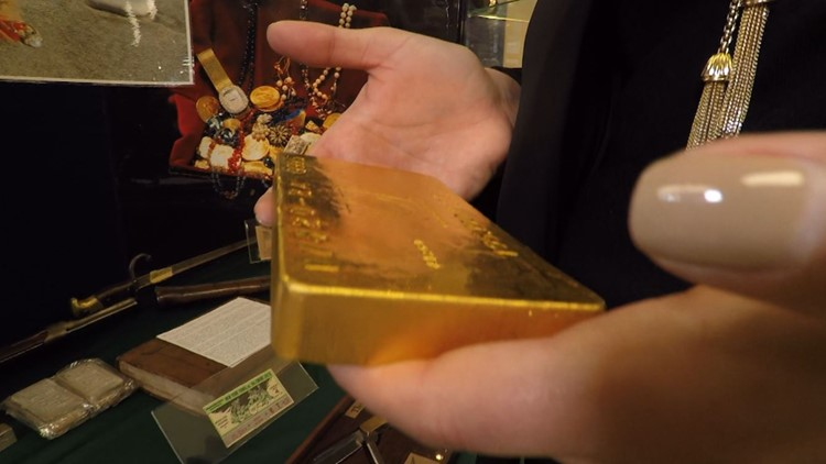 Gold bar in the Comptroller's unclaimed property vault