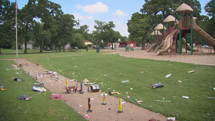 'This is terrible': Debris from illegal fireworks left behind in parks, public spaces