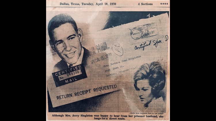 Newspaper clipping Jerry Singleton ALIVE