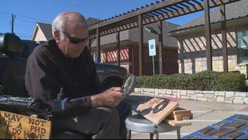 With only a magnifying glass in hand, Keller man credits art hobby for saving his life