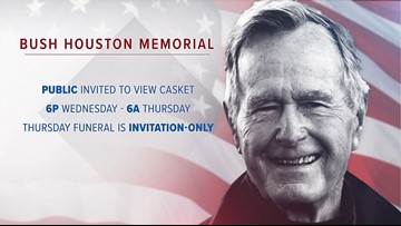 Planning to pay tribute to George H.W. Bush in Houston? What you need to know