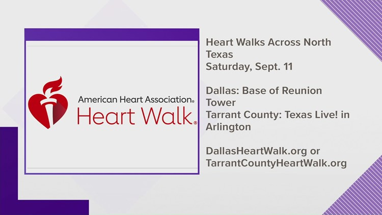 Lace up your shoes for the Heart Walks across North Texas