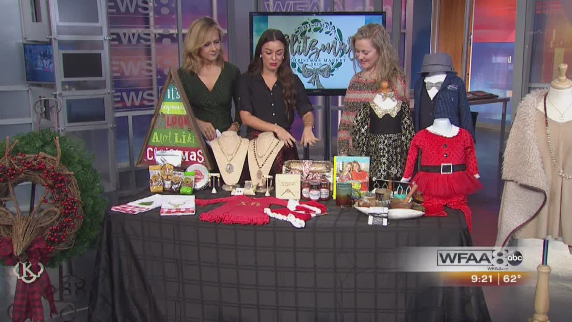 Chi Omega Christmas Market Dallas 2021 Glitzmas Gmt Previews The Chi Omega Christmas Market Wfaa Com