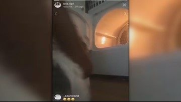 Video: Teenage girl turns on clothes dryer with dog inside