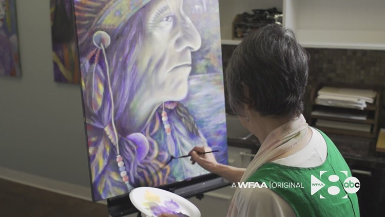 'When I'm painting, I'm alive': 75-year-old Dallas artist shows her work publicly in galleries for the first time