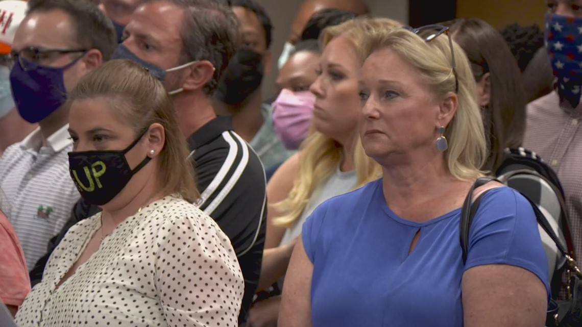 Parents pack Aledo ISD meeting after racist Snapchat group and slave auction flyers