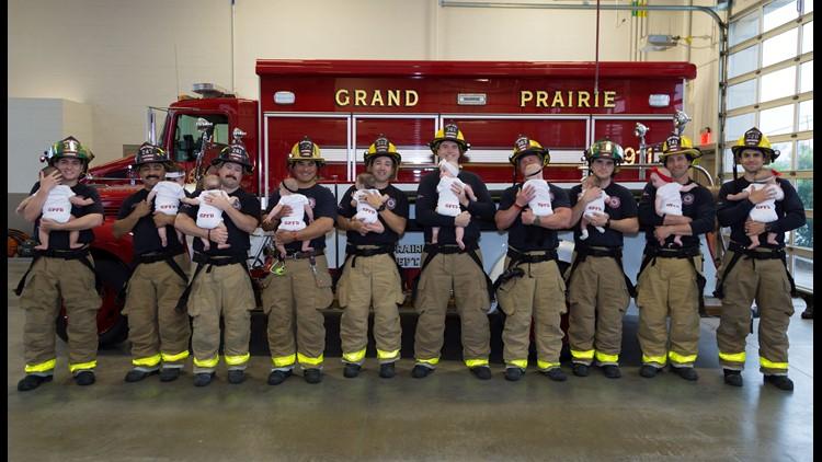 grand prairie fire baby shoot