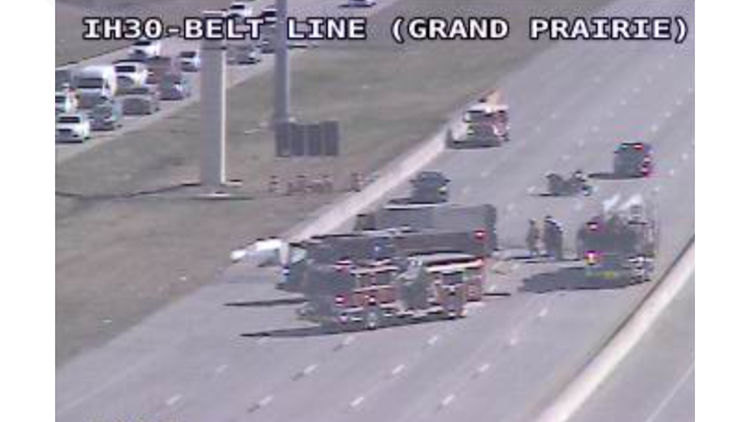 I-30 West reopened in Grand Prairie after vehicle fire, TxDOT says
