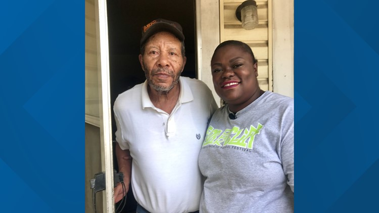 Unesha and grandfather Ray Cunningham
