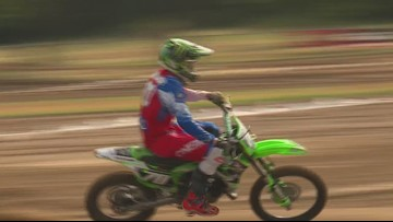 Ft. Worth's Brock Walker is a young motocross star