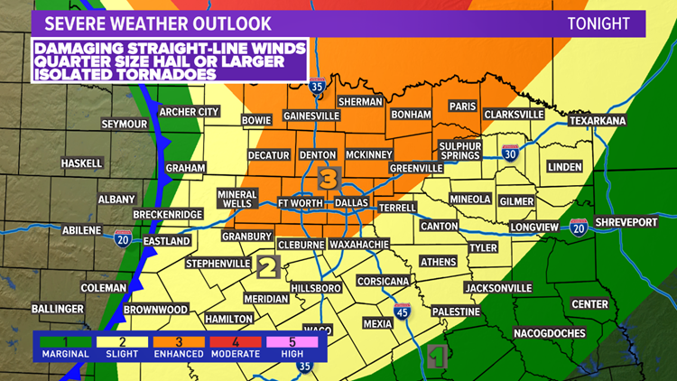 Weekend weather timeline: Severe storms possible tonight; tornado watch issued until 2 a.m.