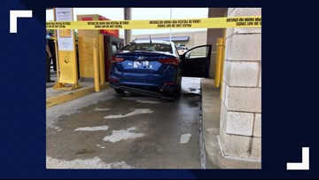 Woman rams deputy's car, gets shot at, drives away, tries to skim bank ATM before finally being arrested